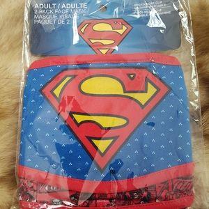 Adult 2-pack Superman face masks